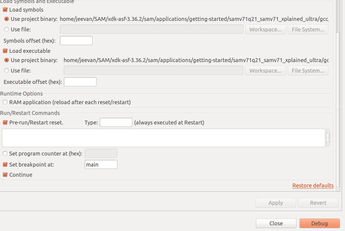SOLVED] Atmel SAM-ICE debugging Issue - J-Link/Flasher