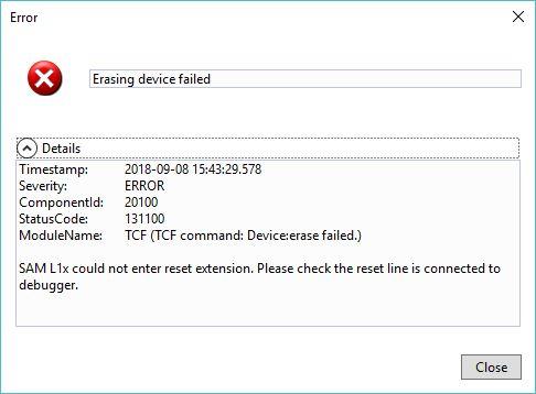 SOLVED] J-Link programming error on Microchip SAML11 Cortex